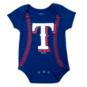 Texas Rangers Running Home Baseball Creeper - 3 Pack