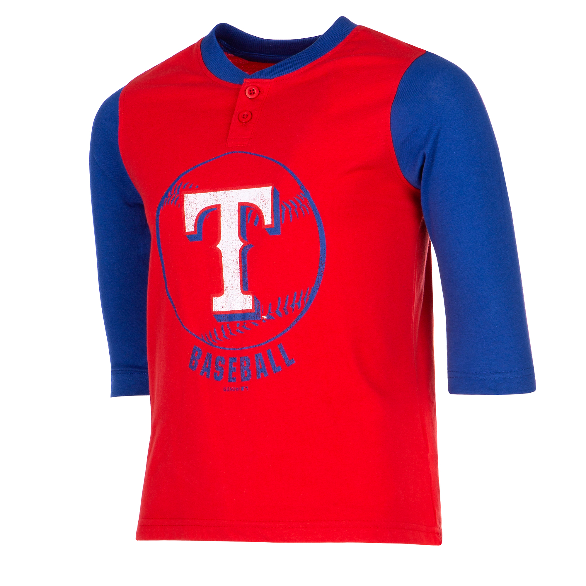 Texas Rangers Youth Legacy Henley 3/4-Sleeve T-Shirt