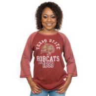 Texas State Bobcats Retro Raglan Tee