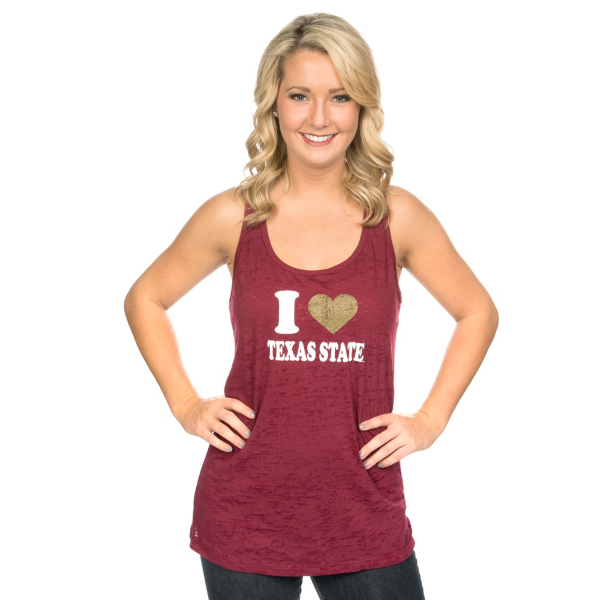 Texas State Bobcats Blue 84 Tank