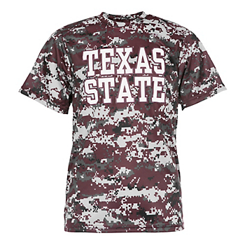 Texas State Bobcats Badger Youth Digital Tee