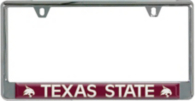 Texas State Bobcats Domed Insert License Plate Frame
