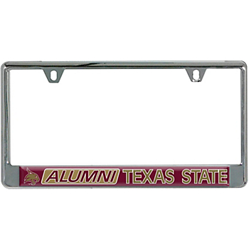 Texas State Acrylic Alumni Slogan License Plate Frame