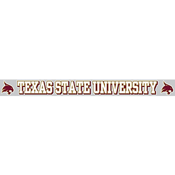 Texas State Bobcats 2x19 Color Decal Strip