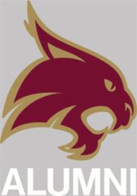 Texas State Bobcats 4x5 Alumni Decal