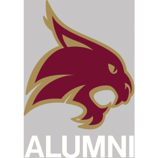 Texas State Bobcats 4x5 Alumni Decal