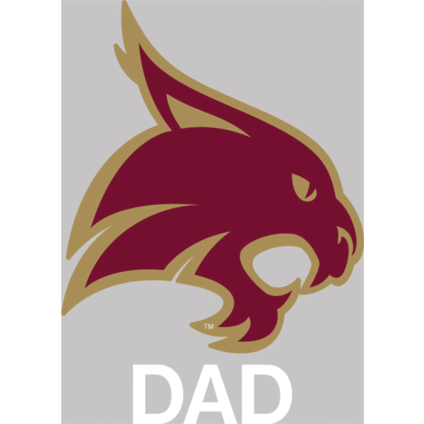 Texas State Bobcats 4x5 Dad Decal