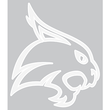 Texas State Bobcats 4x4 White Single Mascot Decal