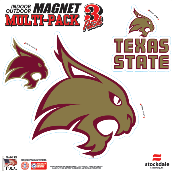 Texas State Bobcats 8x8 Magnet