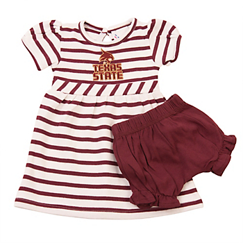 Texas State Bobcats Infant Stripe Dress