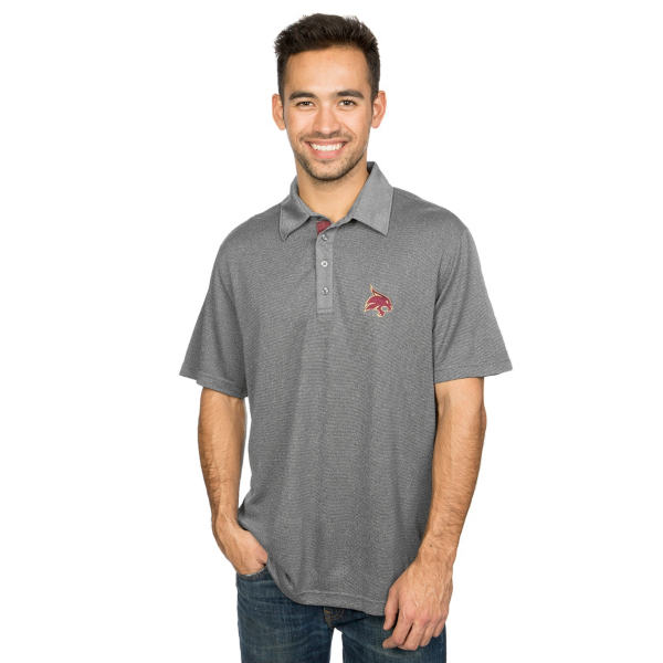 Texas State Bobcats Level Wear Shadow Text Affirmed Polo