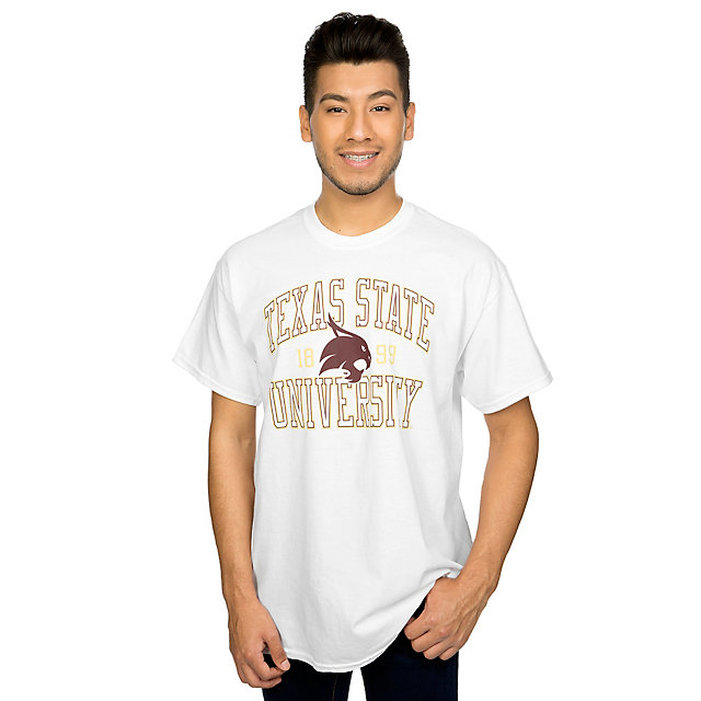 Texas State Bobcats J America Arch Established Tee