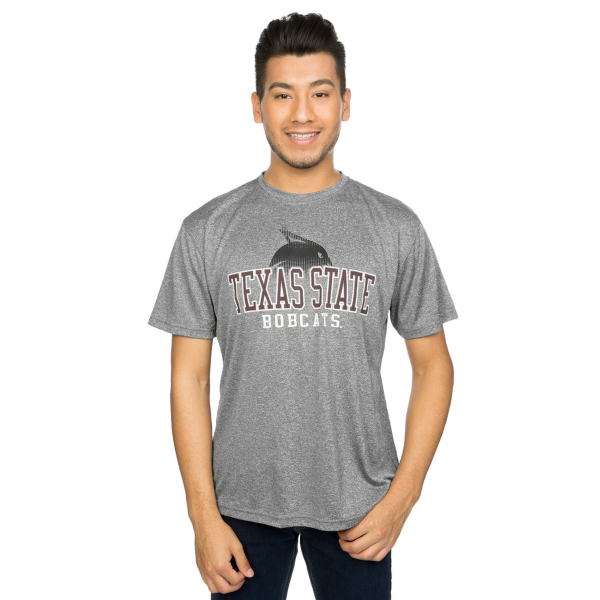 Texas State Bobcats J America Mascot Fade Performance Tee