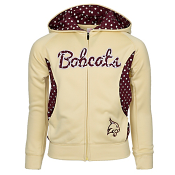 Texas State Bobcats Girls Polka Poly Fleece Jacket