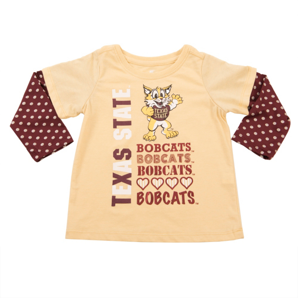 Texas State Bobcats Colosseum Toddler Super Cool Layered Tee
