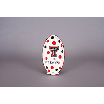 Texas Tech Red Raiders Polka Dot Oval Tray