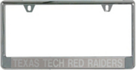 Texas Tech Red Raiders Acrylic Silver Matte License Plate Frame
