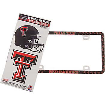 Texas Tech Red Raiders Decal Combo License Plate Frame