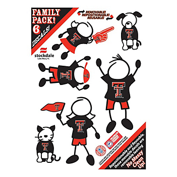 Texas Tech Red Raiders 5x7 Family Decals