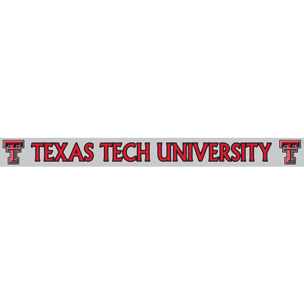Texas Tech Red Raiders 2x19 Color Strip Decal