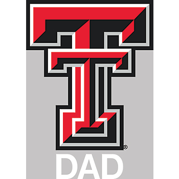 Texas Tech Red Raiders 4x5 Dad Decal