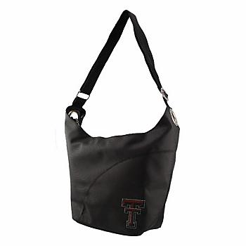 Texas Tech Red Raiders Noir Color Sheen Hobo Bag