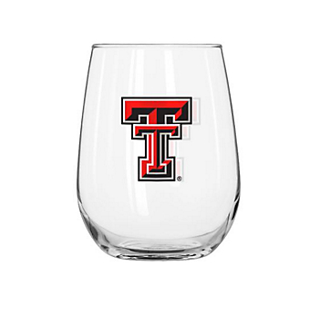 Texas Tech Red Raiders 16 oz Curved Beverage Glass