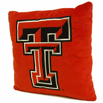 Texas Tech Red Raiders Applique Pillow
