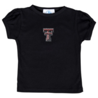 Texas Tech Red Raiders Girls Gathered Sleeve Shirt