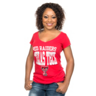 Texas Tech Red Raiders Blue 84 Junior Dyed V-Neck Tee