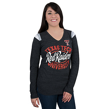 Texas Tech Red Raiders 5th & Ocean Fitted Long Sleeve V-Neck Tee