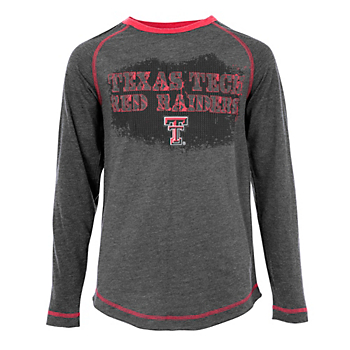 Texas Tech Red Raiders Youth Varsity Player Long Sleeve Tee