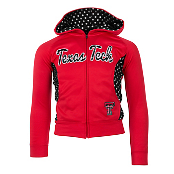 Texas Tech Red Raiders Girls Polka Poly Fleece Jacket