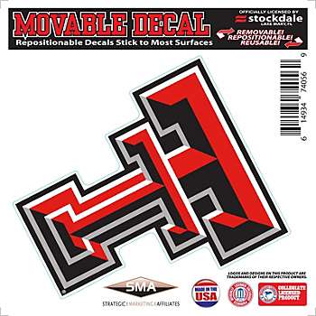 Texas Tech Red Raiders 6x6 Repositionable Decal