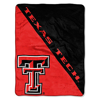 Texas Tech Red Raiders Micro Raschel Half-Tone Throw Blanket