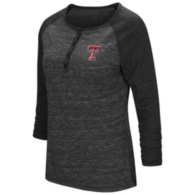 Texas Tech Red Raiders Colosseum Womens Slopestyle 3/4 Sleeve Henley Tee