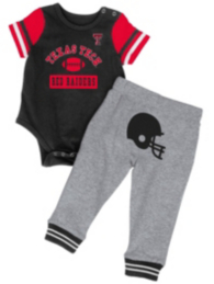 Texas Tech Red Raiders Colosseum Infant MVP Onesie Set