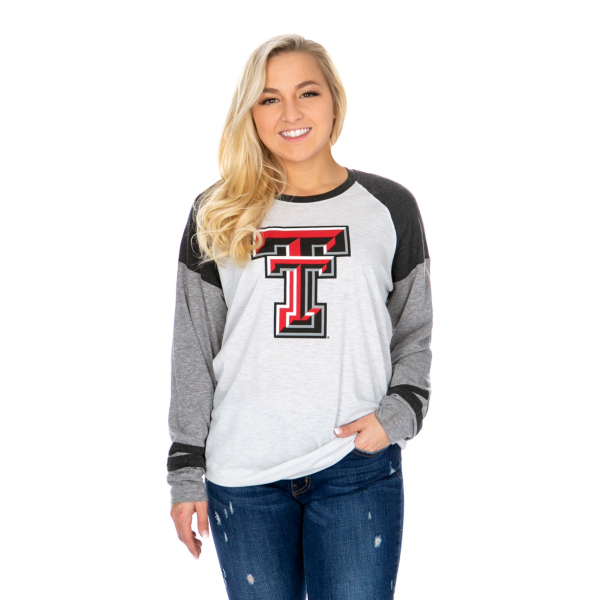 Texas Tech Red Raiders 47 Womens Distressed Imprint Cinderblock Tee