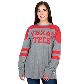Texas Tech Red Raiders Pressbox Womens Peyton Long Sleeve T-Shirt