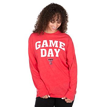 Texas Tech Red Raiders Pressbox Womens Game Day T-Shirt