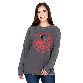 Texas Tech Red Raiders Pressbox Womens Surfer Stamp T-Shirt