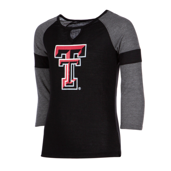 Texas Tech Red Raiders Colosseum Girls All You Need 3/4 Sleeve T-Shirt