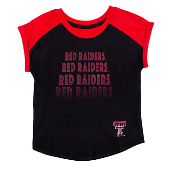 Texas Tech Red Raiders Colosseum Toddler Girls Go Kart Cuffed Short Sleeve T-Shirt