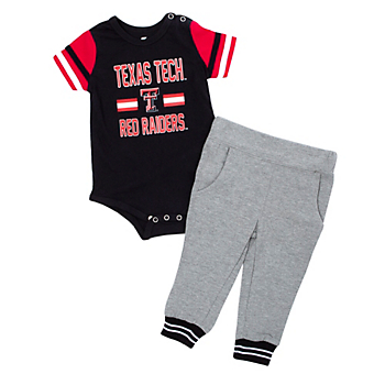 Texas Tech Red Raiders Colosseum Infant Boys Long Run Football Onesie and Pant Set
