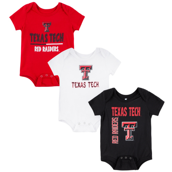 Texas Tech Red Raiders Colosseum Infant Boys Ahhhh! 3-Pack Onesie
