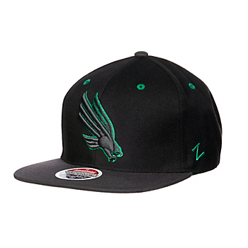 North Texas Mean Green Zephyr Z11 Blackout Snapback Cap
