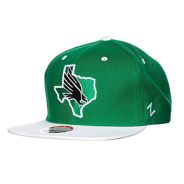 North Texas Mean Green Zephyr Statement Snapback Cap