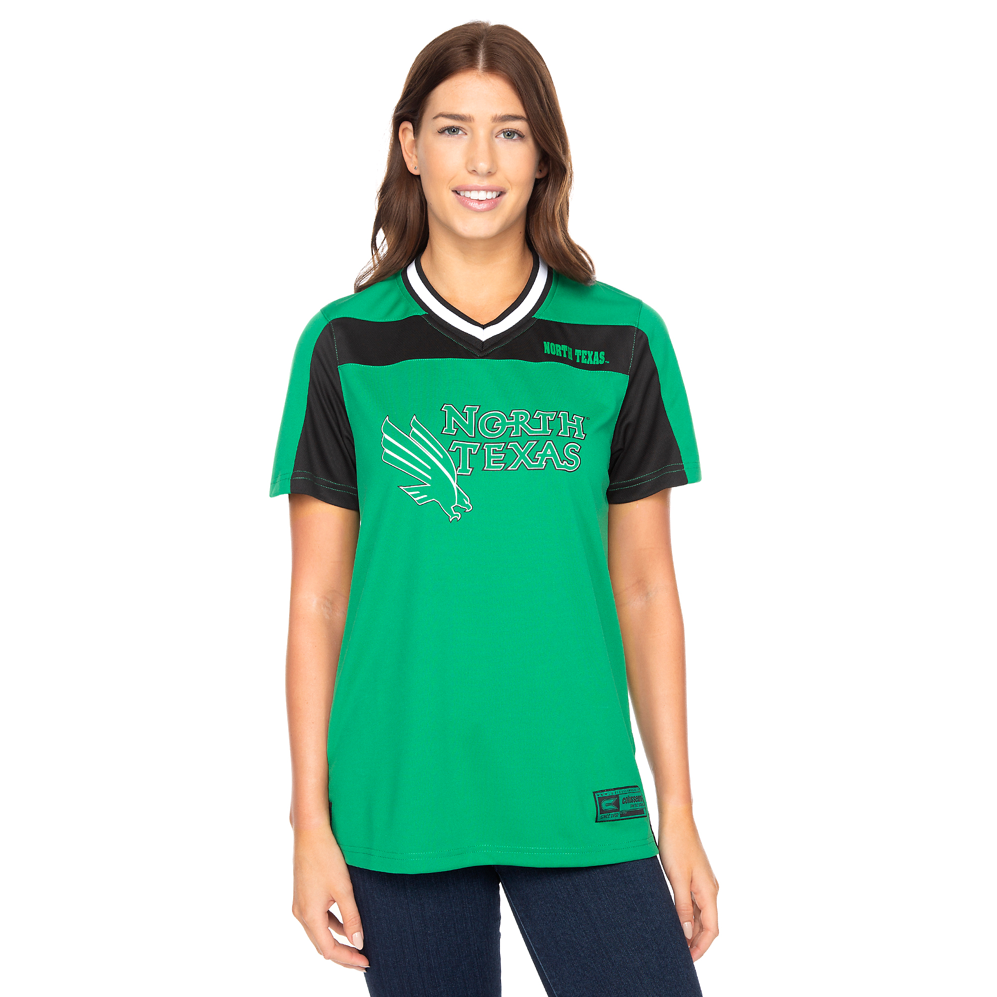 buy online 6175f 9c6bf North Texas Mean Green Colosseum Womens My Agent Jersey | Fans United
