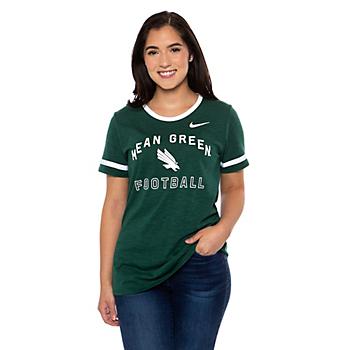 North Texas Mean Green Nike Slub Fan Ringer T-Shirt