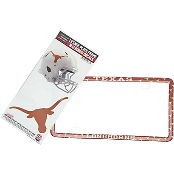 Texas Longhorns Decal Combo License Plate Frame